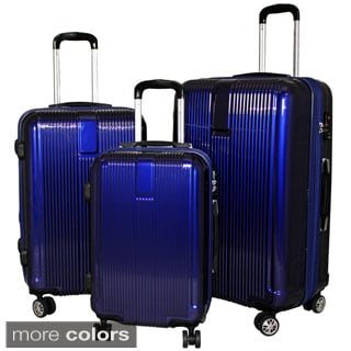 American Traveler 3-piece Hardside Lightweight Expandable Spinner Luggage Set