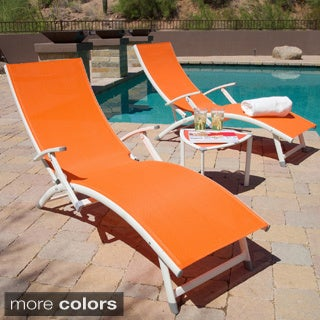 Sol Sling 3-piece Folding Chaise Lounge Set