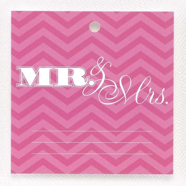 Fuchsia Chevron Wish Tags
