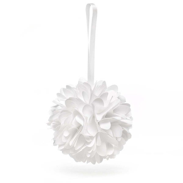 White Wild Flower Kissing Ball