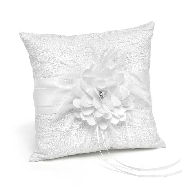 Hortense B. Hewitt Square White Ring Pillow