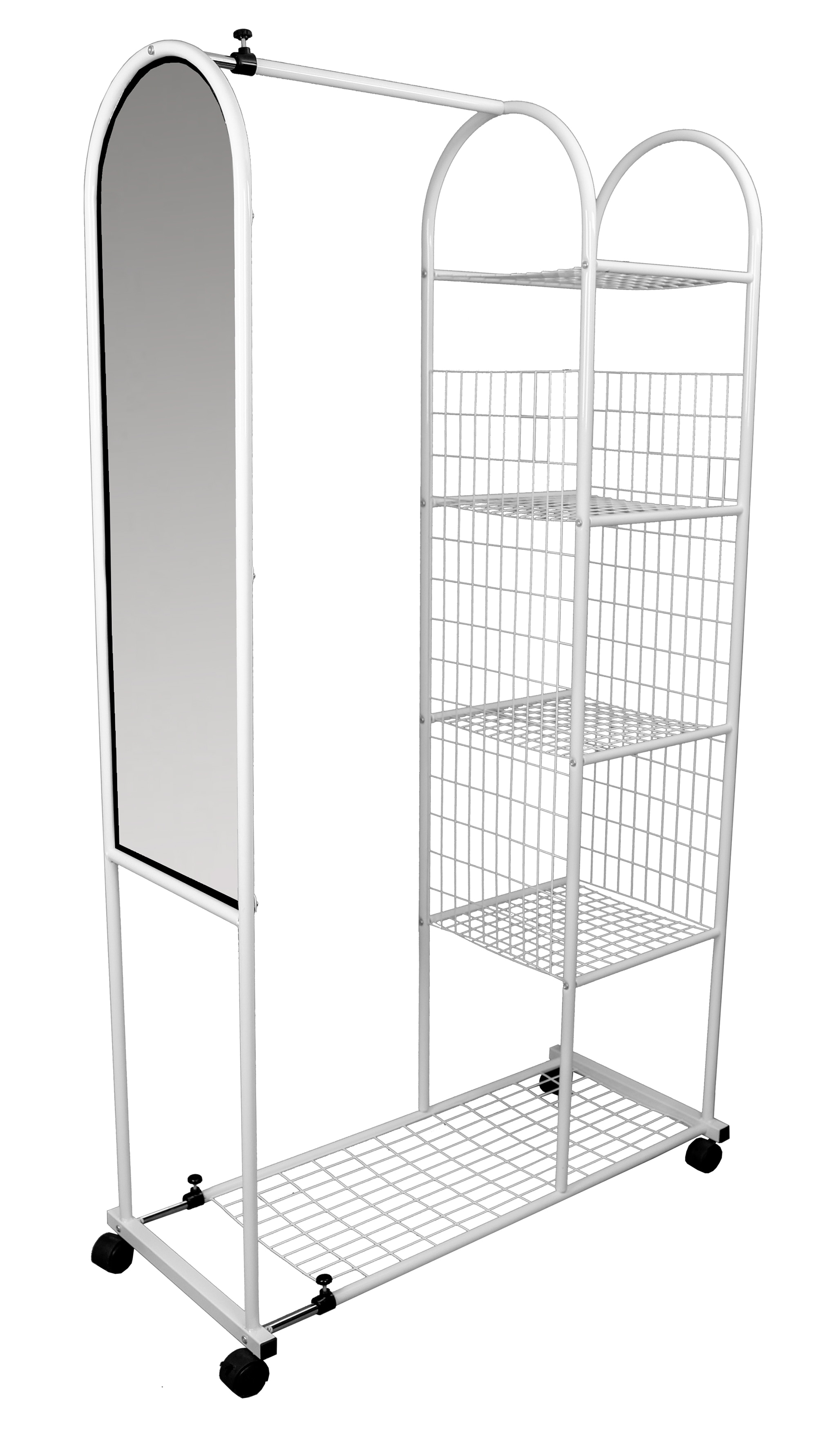 Paris Verena White Extendable Wardrobe with Mirror