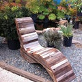 Lady Reclaimed Redwood Lounge Chair