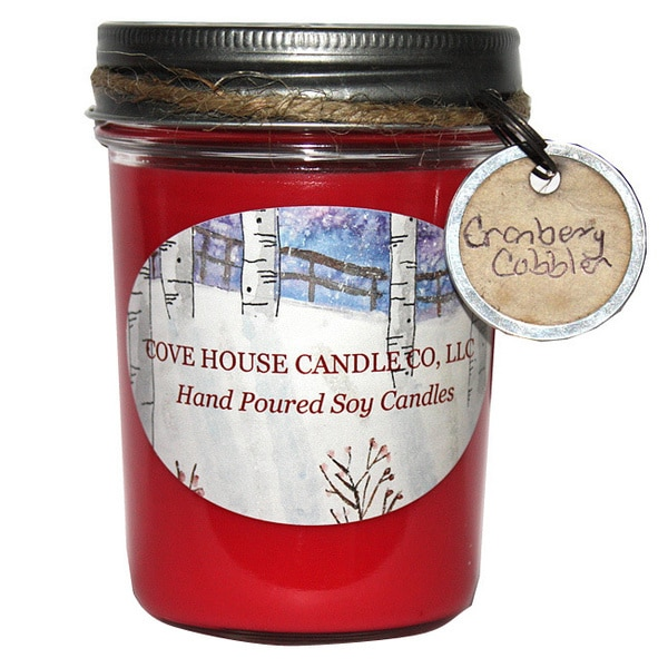 Scented Red 8-ounce Soy Jelly Jar Container Candle