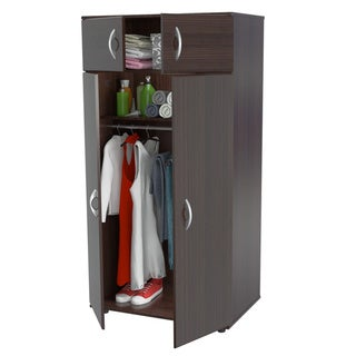 Inval espresso wenge armoire overstock shopping big for Armoire penderie wenge