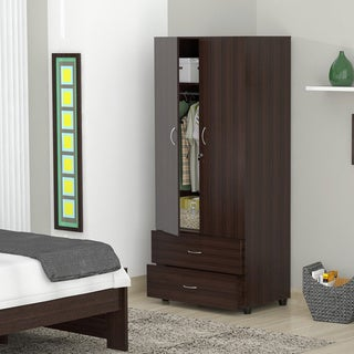 Inval Espresso-wenge Functional Armoire