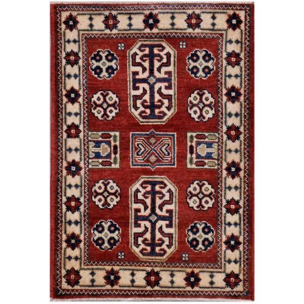 Herat Oriental Afghan Hand-knotted Kazak Wool Rug (2' x 3') 12449103