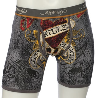 Ed Hardy Men's 'Love Kills Slowly' Grey Premium Boxer Briefs