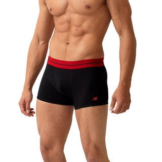 New Balance Men's Black Essential Trunks (Pack of 2 pairs)