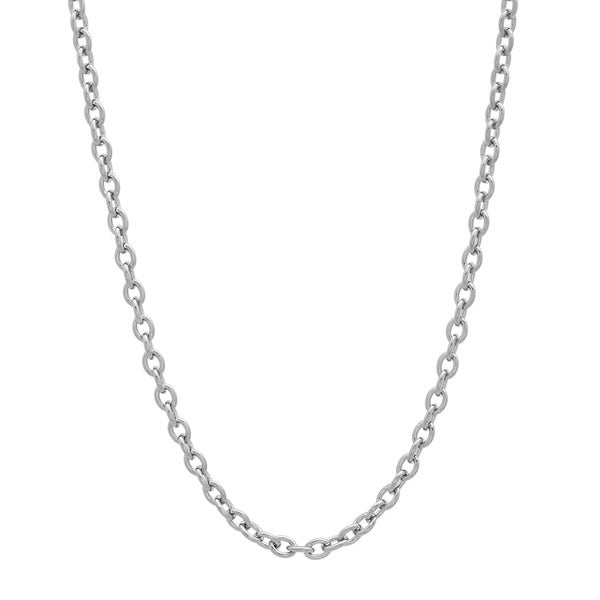 "Sterling Essentials Silver Cable Chain Necklace (18-24"")"