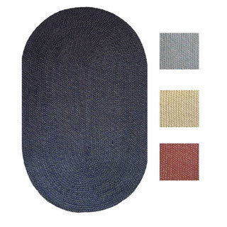 Malibu Indoor/ Outdoor Oval Reversible Braided Rug (1'8 x 2'6)
