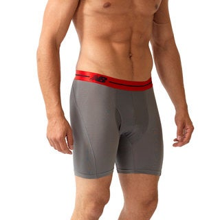 New Balance Men's 'Performance' Grey Sport Briefs (6-inch inseam)