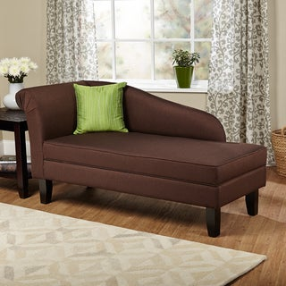 Simple Living Leena Brown Storage Chaise