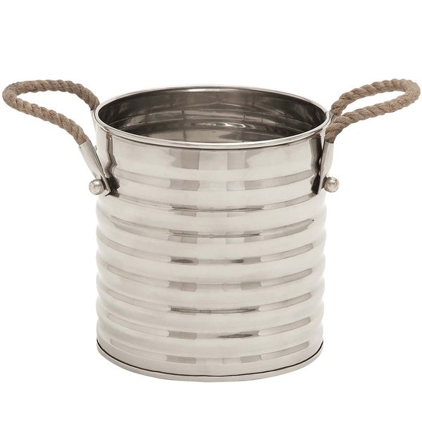 San Francisco Stainless Steel Rope-handled Bucket/ Wine Chiller