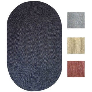 Malibu Indoor/ Outdoor Braided Rug (3' x 5' Oval)