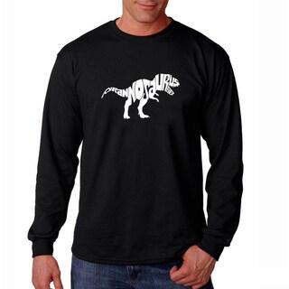 Los Angeles Pop Art Men's 'Tyrannosaurus Rex' Black T-shirt