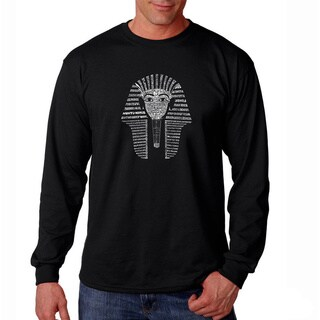 Los Angeles Pop Art Men's 'King Tut' Long Sleeve T-shirt