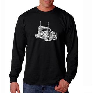 Los Angeles Pop Art Men's 'Keep On Truckin' Long Sleeve T-shirt