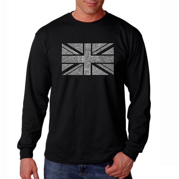 Los Angeles Pop Art Men's 'Union Jack' Long Sleeve T-shirt
