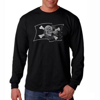 Los Angeles Pop Art Men's 'Pirate Flag' Long Sleeve T-shirt