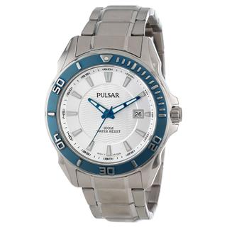 Pulsar Men's Active Sport Stainless Steel Blue Watch