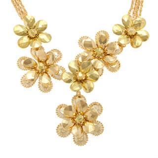 Amrita Singh Floral Goldtone Brass Fashion 'Y' Necklace