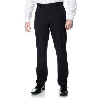 Nicole Miller Men's Navy Striped Suit Separate Trim-fit Pants