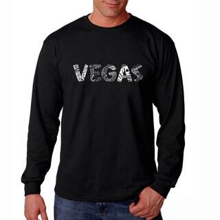 Los Angeles Pop Art Men's 'Las Vegas' Long Sleeve T-shirt