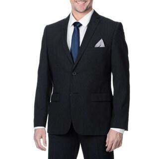 Nicole Miller Men's Navy Striped 2 Button Suit Separate Jacket