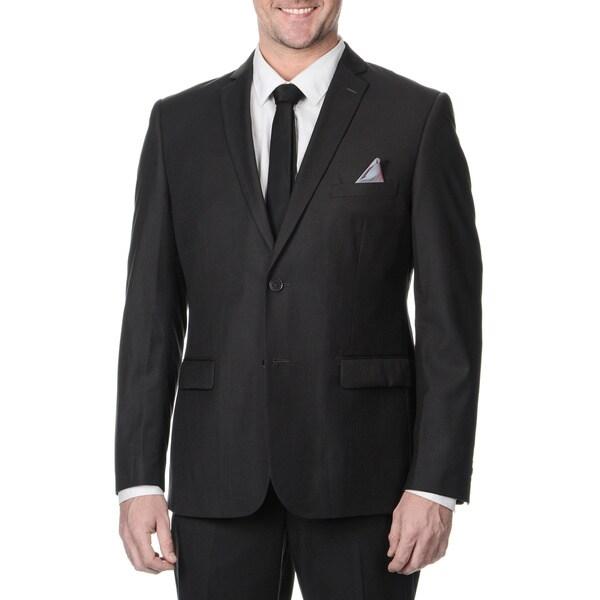 Nicole Miller Men's Charcoal 2-button Suit Separate Jacket