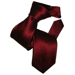 Dmitry Men's Burgundy Italian Silk Tie