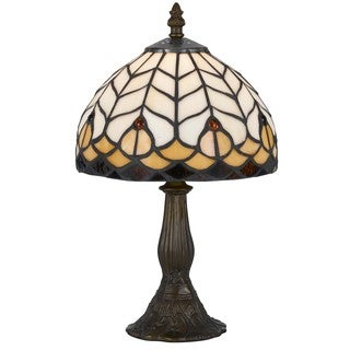 1-light Antique Brass Tiffany Accent Lamp