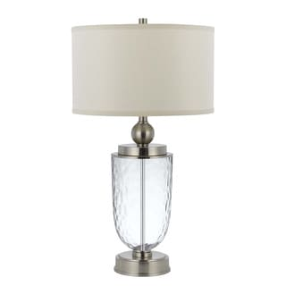 2-light Oblique Glass Table Lamp with Night Light