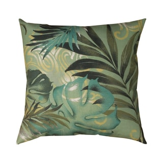 Tropical Leaf 19-inch Square Decorative Throw Pillow