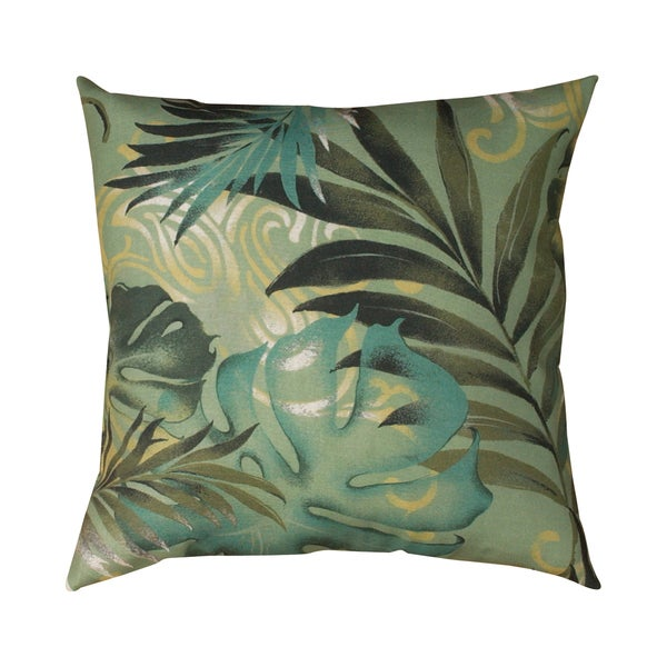 Decorative Pillows Tropical : Tropical Leaf 19-inch Square Decorative Throw Pillow - Overstock Shopping - Great Deals on Throw ...