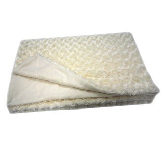 Roberto Amee Sculpted Ivory Faux Fur Blanket (Case of 12)