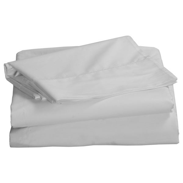 Egyptian Cotton Percale 500 Thread Count Hemstitch Deep Pocket Sheet Set