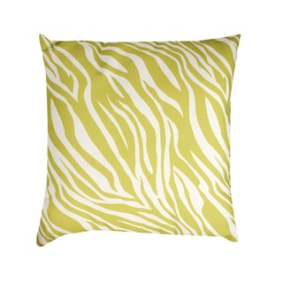 19-inch Green/ White Zebra Print Throw Pillow
