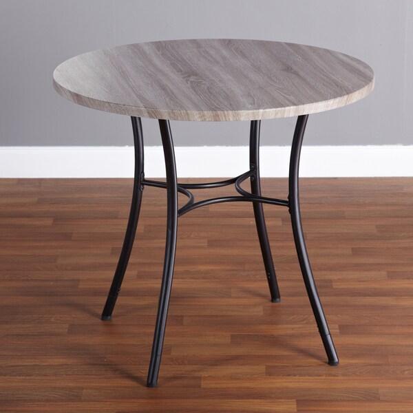 Simple Living Seneca Grey/ Black Height-adjustable Dining Table