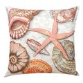 Shells By The Sea 19-inch Indoor/ Outdoor Decorative Pillow