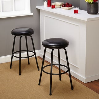 Backless Adjustable Swivel Bar Stool (Set of 2)