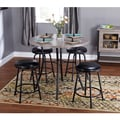 Seneca Black/ Grey Adjustable Height 5-piece Dining Set