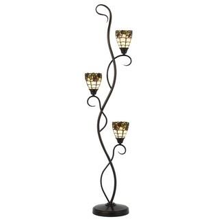 Cal Lighting Tiffany 3-light Dark Bronze Floor Lamp