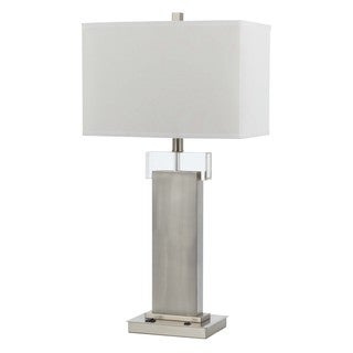 Cal Lighting Nightlight 2-light Rubbed Matte Steel Desk Lamp