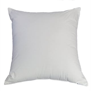 Damask Stripe Cotton 26-inch Goose Down Euro Square Pillow