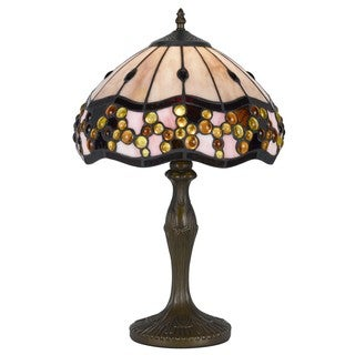 Cal Lighting Tiffany 1-light Antique Brass Accent Lamp