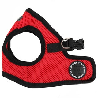 Puppia Red Soft Vest Dog Harness