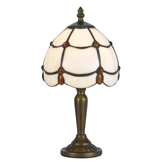 Cal Lighting Tiffany Jewel 1-light Antique Brass Accent Lamp