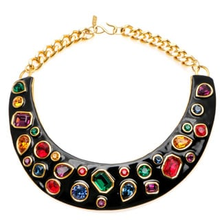 Kenneth Jay Lane Multi-color Jewel Bib Necklace
