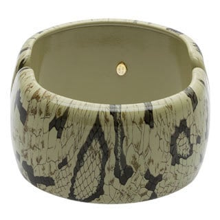 Kenneth Jay Lane 7411BSNK Snake Print Bangle Bracelet